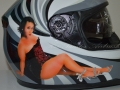Airbrushed Pin-Up on Motorcycle Helmet