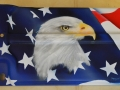 Close up of the Eagle on 69 Radiator Cover before clearcoat