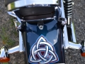 Triquetra design on rear fender
