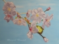 Cherry Blossoms Painting on Canvas