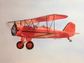 Matt's Vintage Red Plane on Canvas