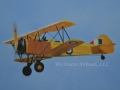Yellow Vintage Plane Painting on Canvas